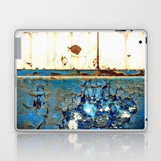 Industrial Rust on Blue Metal Laptop & iPad Skin by johnnieblackcrow