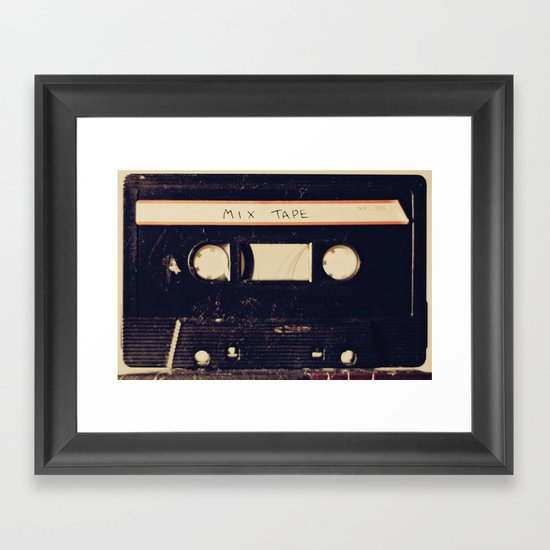 mix tape Framed Art Print