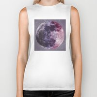 moon phases Biker Tanks featuring Phases of the Moon by De(b)sign