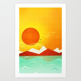 Inferno hot day - and we love it! Art Print