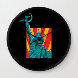 Two Worlds - Socialism - Democracy - Marx Wall Clock