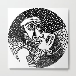 The kiss. Picasso Metal Print