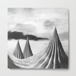 Prickly Peaks Metal Print
