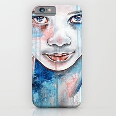When the rain washes you clean, watercolor illustration iPhone 6s Slim Case