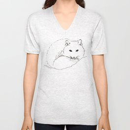Fox in the Snow Unisex V-Neck