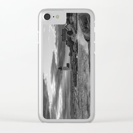 Annisquam Lighthouse Black and white Clear iPhone Case