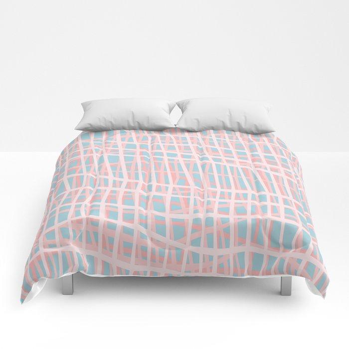 Net Blush Blue Comforters