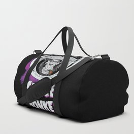 Space Monkey Retro Black Duffle Bag