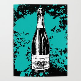 Champagne Explosion Poster