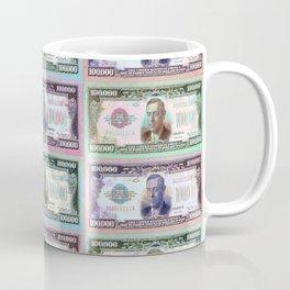180 Million Dollars Money Bling Cash Dollar Bills Coffee Mug