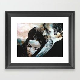 June & Johnny Framed Art Print