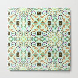 "Seamless pattern in the style of ""printed circuit board"" Metal Print"