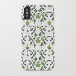 Belladonna Pattern iPhone Case