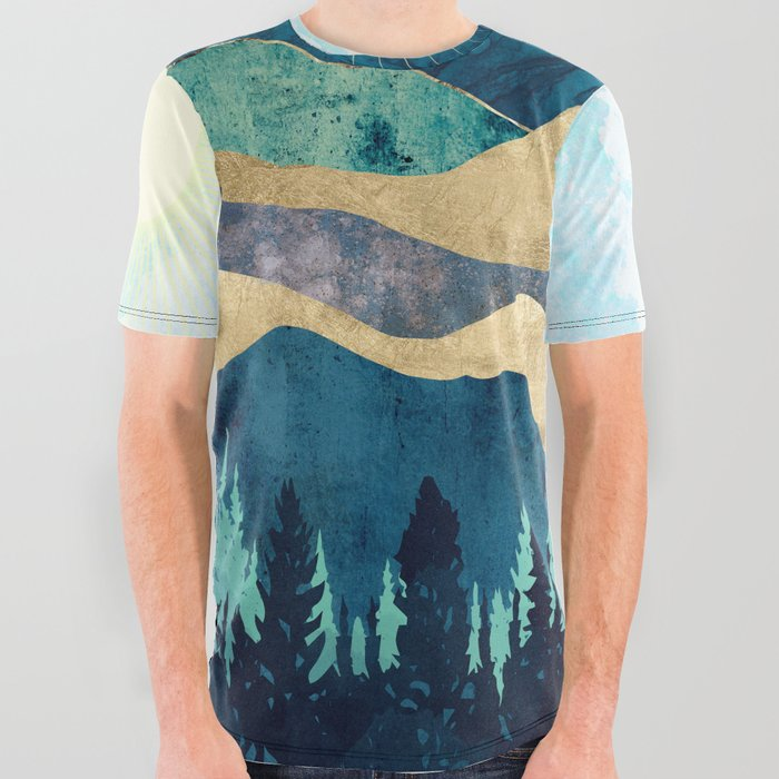 Blue Forest All Over Graphic Tee