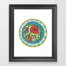 Floral Mosaic Brooch Framed Art Print