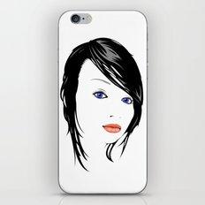 minimal girl 1 iPhone & iPod Skin