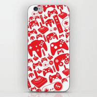 gaming iPhone & iPod Skins featuring Gaming Love by Tombst0ne