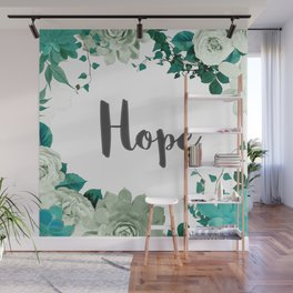 FLORAL DESIGN HOPE Wall Mural