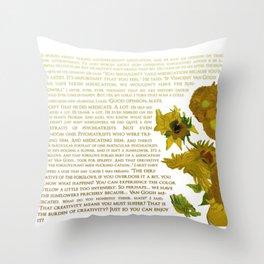 Van Gogh Medicated- Hanna Gadsby Throw Pillow