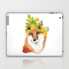 fox with flower crown Laptop & iPad Skin