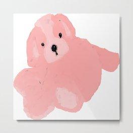 Pink Vector Puppy Metal Print