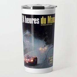 Le Mans, 24hs Le Mans 1971, vintage poster, Le mans t-shirt Travel Mug