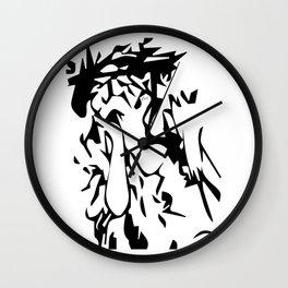 Lady of Paris Abstract by Jag Wall Clock