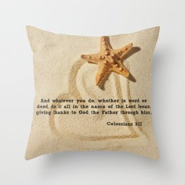 Colossians 3:17 Throw Pillow
