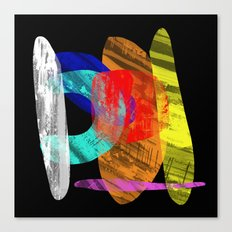 Pastel Pieces - Abstract, pastel artwork Canvas Print