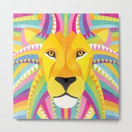 Shanti Sparrow: Marley the Lion Metal Print