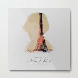 Amelie, minimalist movie poster, french film playbill, the fabulous life of Amélie Poulain, Metal Print