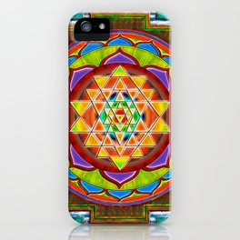 Intuition Sri Yantra II iPhone Case