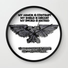 Emperors Aquila Eagle - WH40k, space marines symbol, sign, logo. Space RTS games Wall Clock