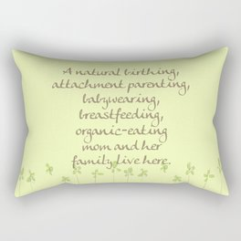 Natural Momma Rectangular Pillow