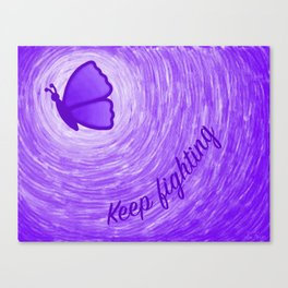 Keep Fighting (Digital) Canvas Print