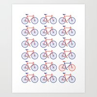 bikes Art Prints featuring Bikes  by Keep It Simple