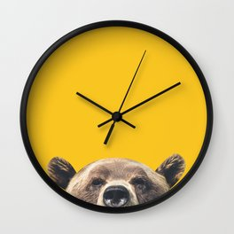 Bear - Yellow Wall Clock