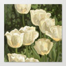 White Tulips III Canvas Print