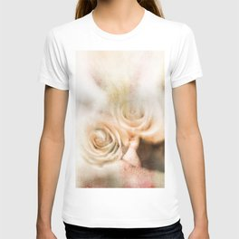 Abstract vintage roses T-shirt