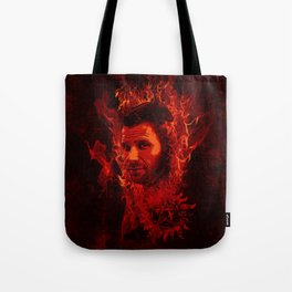 Lucifer in flames Tote Bag