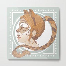 a real tiger Metal Print
