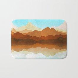 Western Sky Reflections In Watercolor Bath Mat