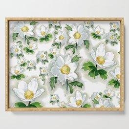 Alpine Flowers Anemones Serving Tray