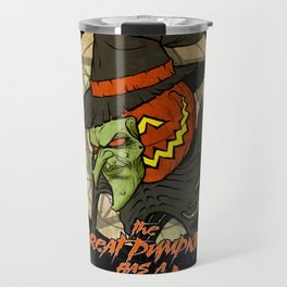 Cult of the Great Pumpkin: Witch Mask Travel Mug