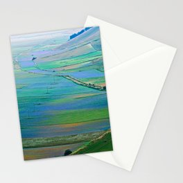 Plain of Castelluccio seen from above Stationery Cards