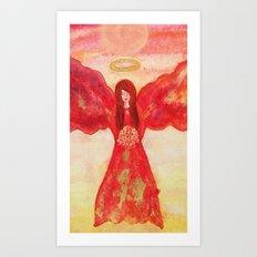 Amorette the Angel of Love Art Print