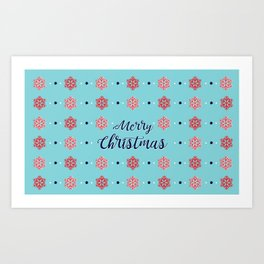 Merry Christmas BLUE Art Print