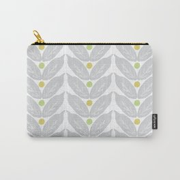 Grey Vine Modern Botanical Pattern Carry-All Pouch