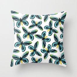 Queen Alexandra' s birdwing butterfly pattern design Throw Pillow