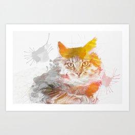 Watercolor Kitty Art Print
